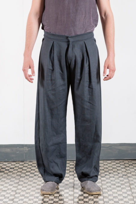 Zuava Pleats Trousers Man
