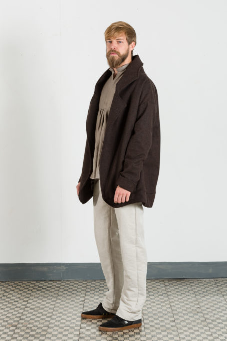 Maxi Coat Dark Brown Man